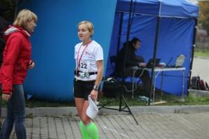 Agnieszka Łęcka przybiegła jako pierwsza kobieta na metę Maratonu Bieszczadzkiego.
